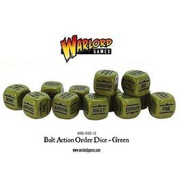 Warlord Games Orders Dice - Green (12)