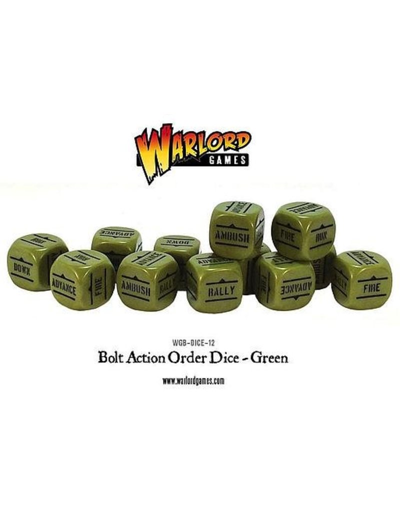 Warlord Games Bolt Action Orders Dice - Green (12)