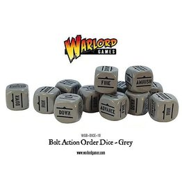 Warlord Games Bolt Action Orders Dice - Grey (12)