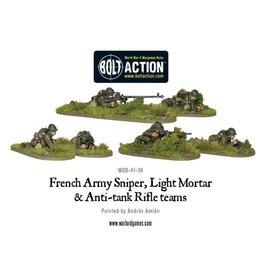 Warlord Games Early War French Sniper, Light Mortar & AT Rifle Teams