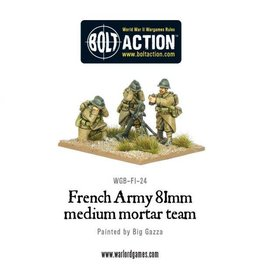 Warlord Games Early War French 81mm Mortar Team