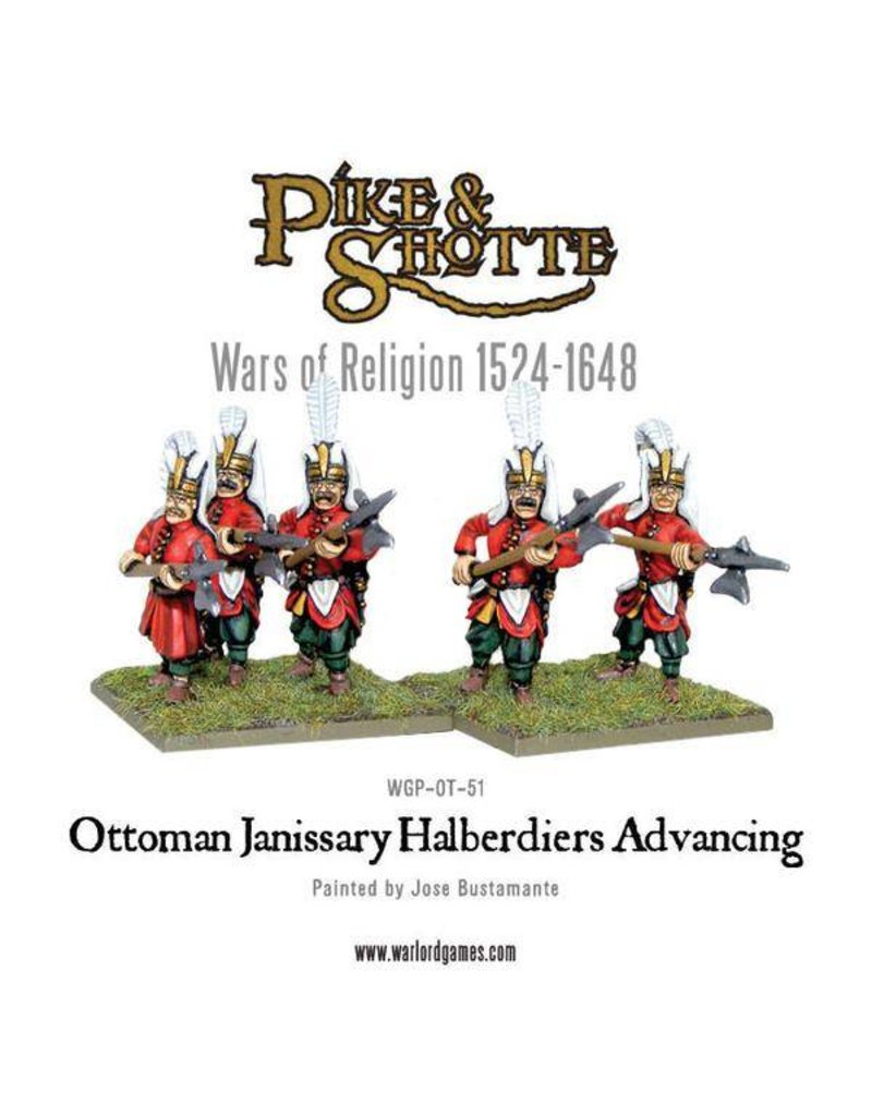 Warlord Games Wars Of Religion 1524-1648 Ottoman Janissary Halberdiers Advancing Pack