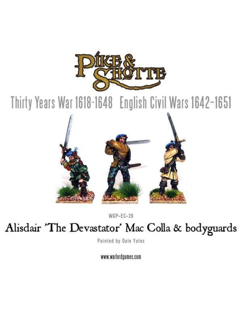 "Warlord Games 30 Years War 1618-1648 Mac Colla ""The Devastator"" & Bodyguard Pack"