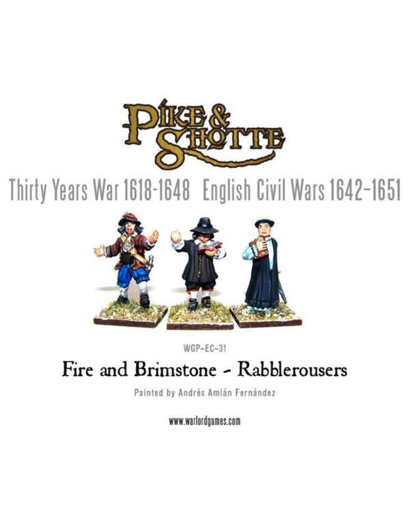 Warlord Games English Civil Wars 1642-1652 Fire And Brimstone - Rabblerousers Pack