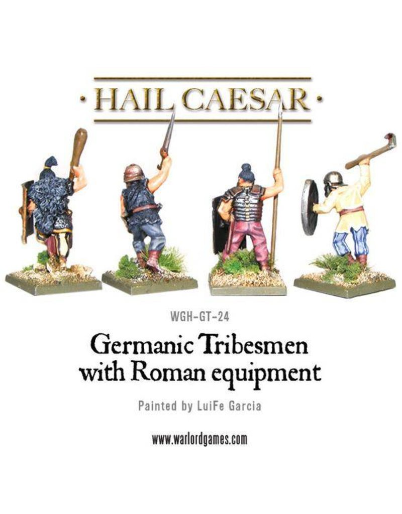 Warlord Games Enemies Of Rome Germanic Tribesman With Roman Equipment Pack