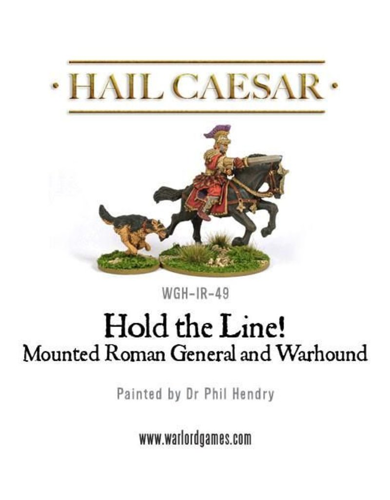 Warlord Games Hold The Line! Early Imperial Mounted Roman General W/ Hound Pack