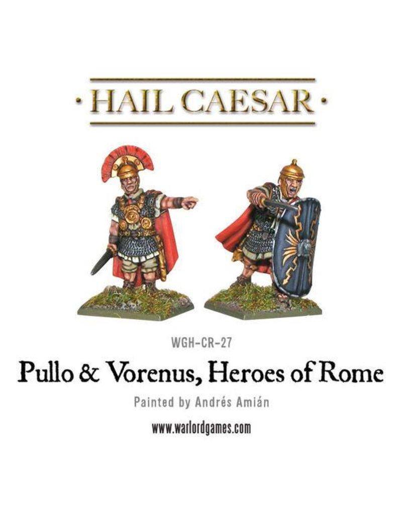 Warlord Games Caesarian Romans - Pullo & Verenus Army, Heroes Of Rome Pack