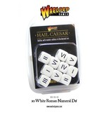 Warlord Games 10 White Roman Numeral D6 Dice Pack