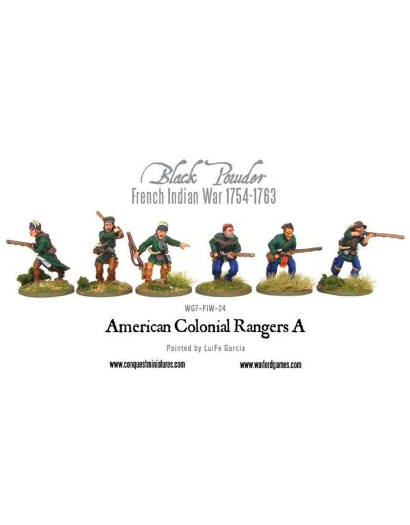 Warlord Games French Indian War 1754-1763 American Colonial Rangers A Pack
