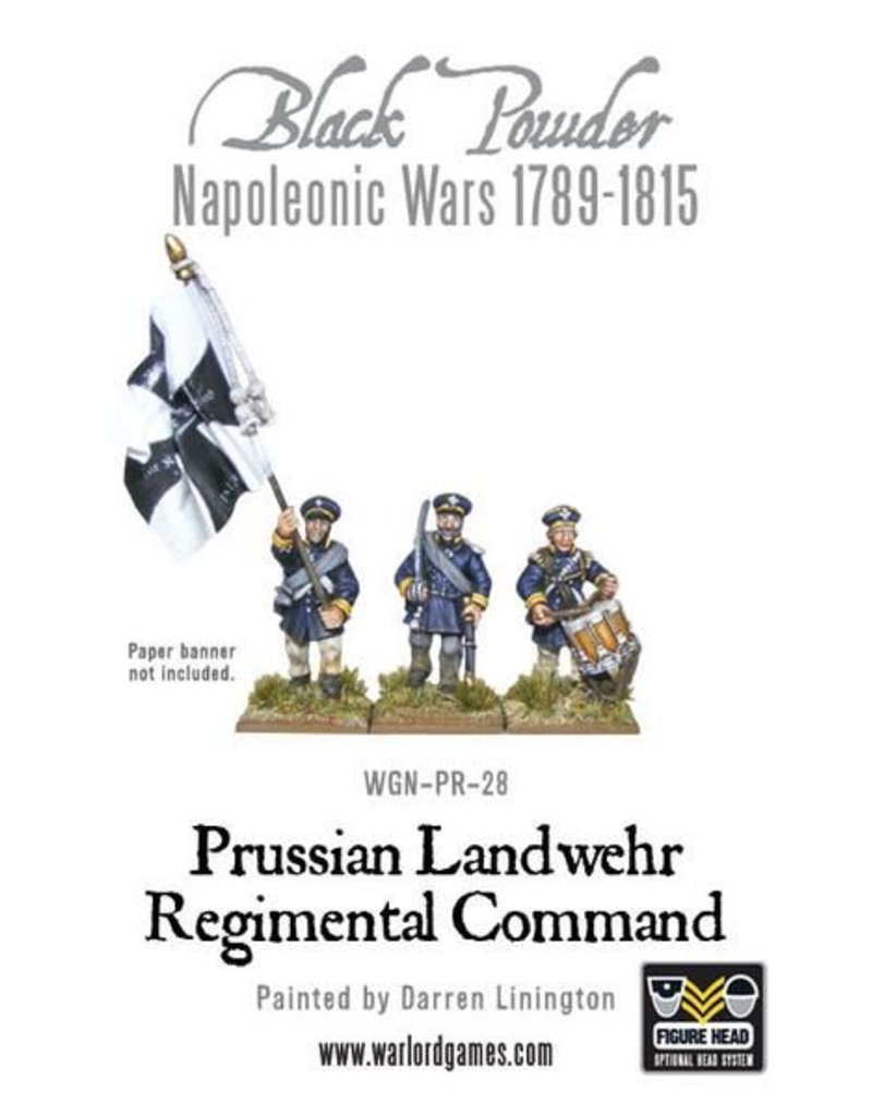 Warlord Games Napoleonic Wars 1789-1815 Prussian Landwehr Regimental Command Pack