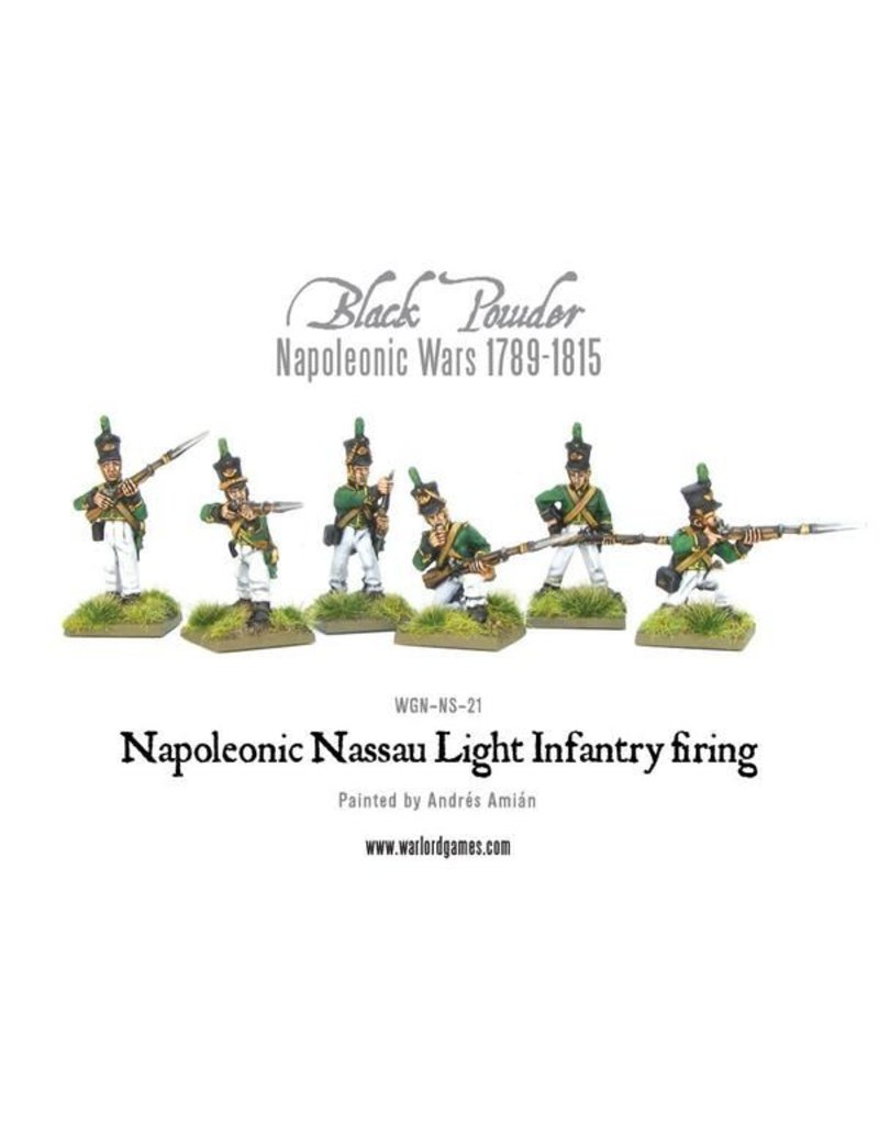 Warlord Games Napoleonic Wars 1789-1815 Nassau Light Infantry Firing Pack
