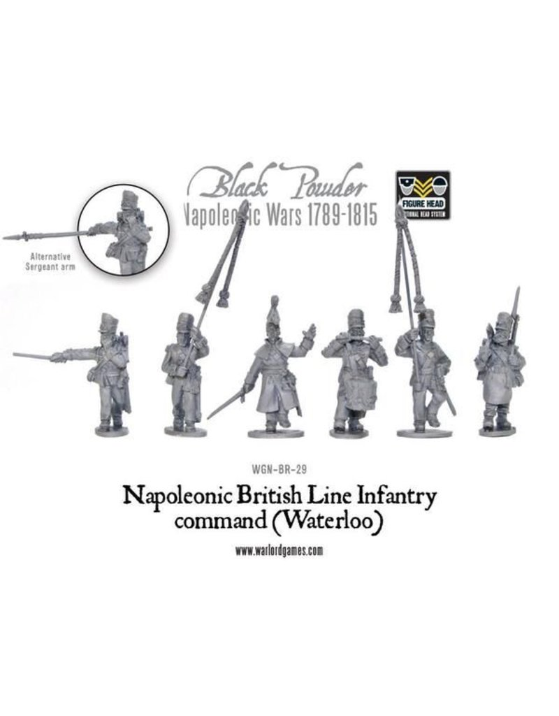 Warlord Games Napoleonic Wars 1789-1815 British Line Infantry Command (Waterloo) Box Set