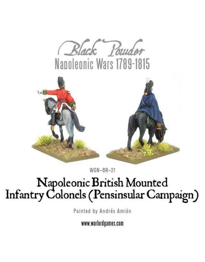 Warlord Games Napoleonic Wars 1789-1815 Mounted British Infantry Colonels (Peninsular) Box Set