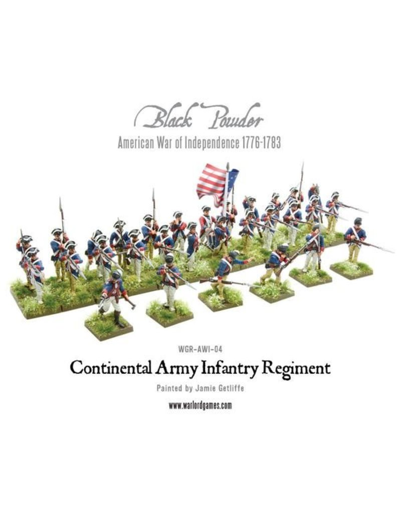 Warlord Games Continental Infantry Regiment (American War Of Independence) Box Set