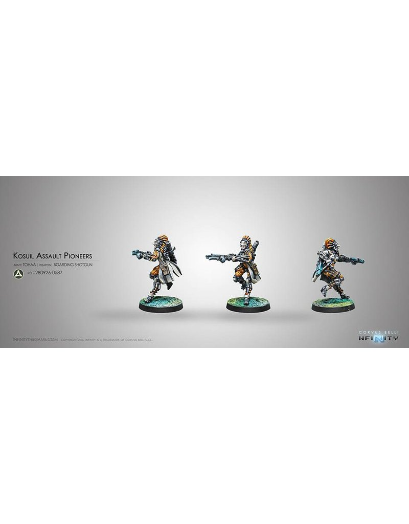 Corvus Belli Tohaa Kosuil Assault Pioneers (Boarding Shotgun) Blister Pack