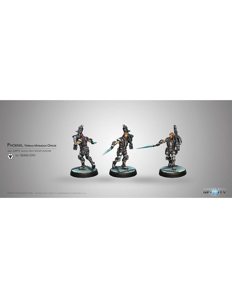 Corvus Belli Aleph Phoenix, Veteran Myrmidon Officer (Heavy Rocket Launcher) Blister Pack