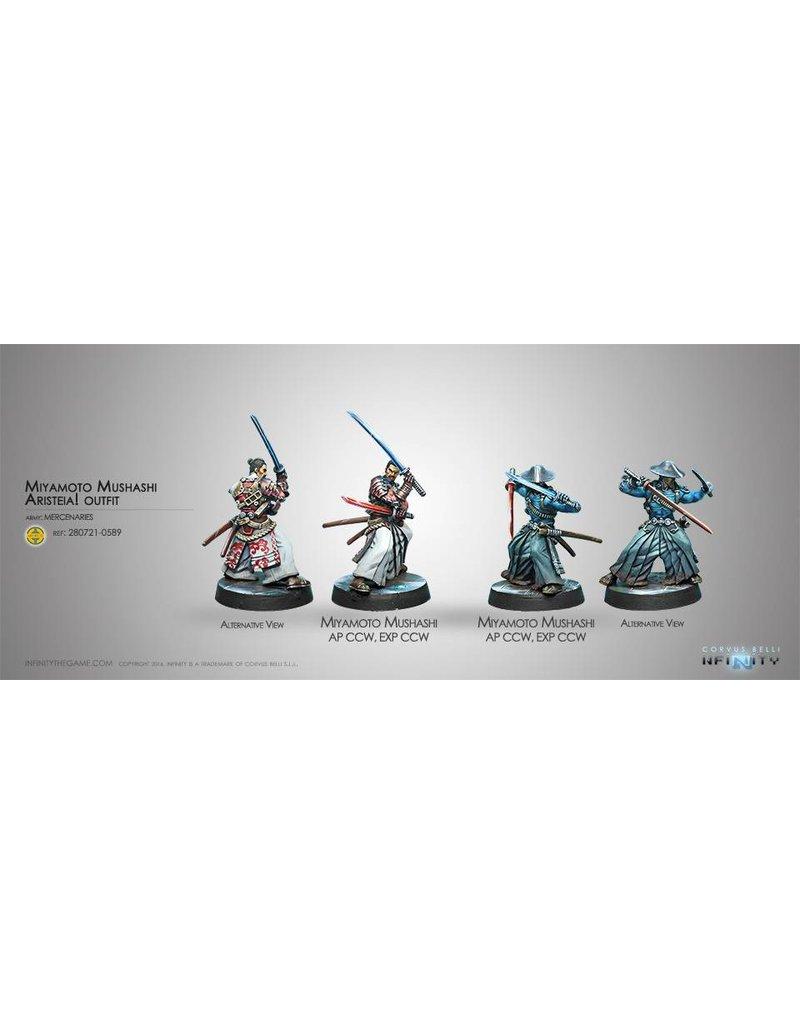 Corvus Belli Mercenaries Miyamoto Mushashi Aristeia! outfit   Blister Pack