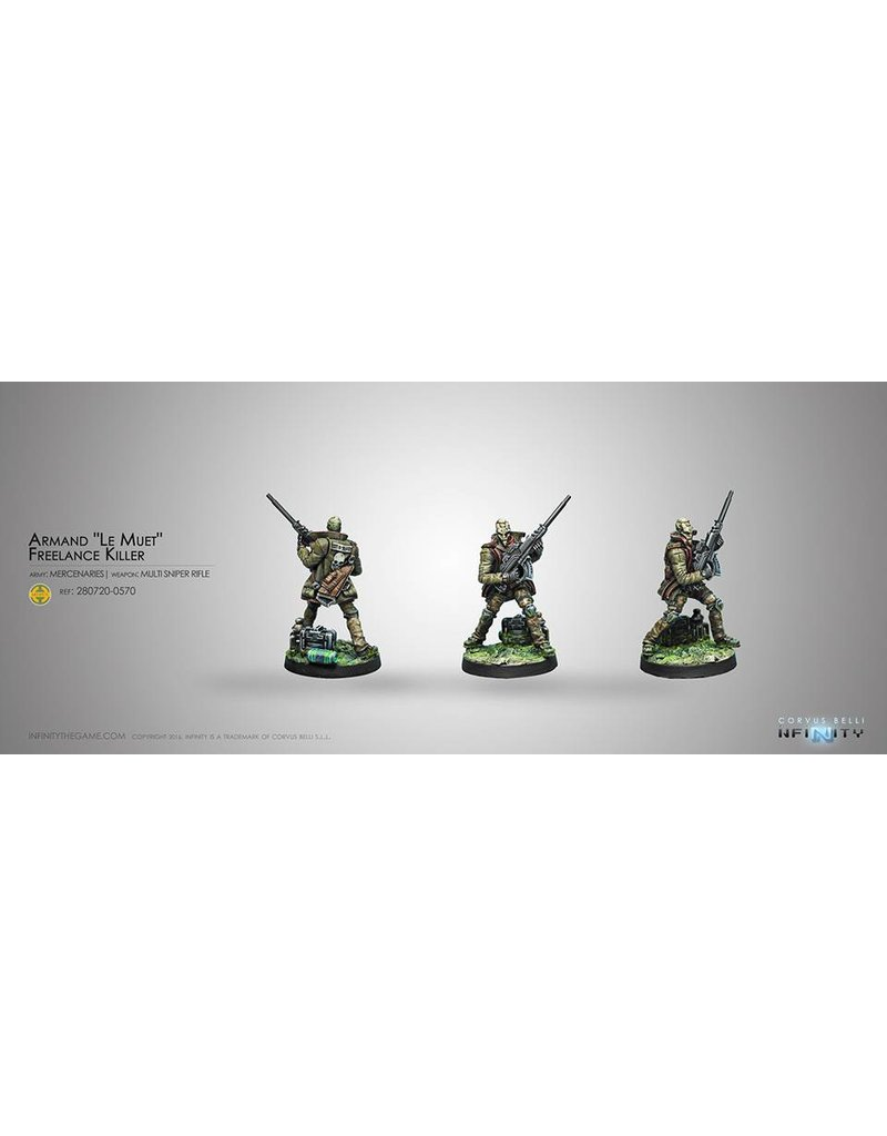 "Corvus Belli Mercenaries Armand ""Le Muet"", Freelance Killer (MULTI Sniper) Blister Pack"