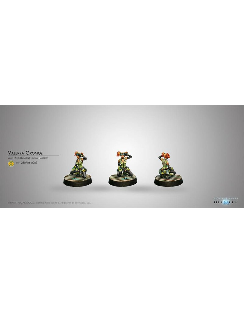 Corvus Belli Mercenaries Valerya Gromoz (Hacker) Blister Pack