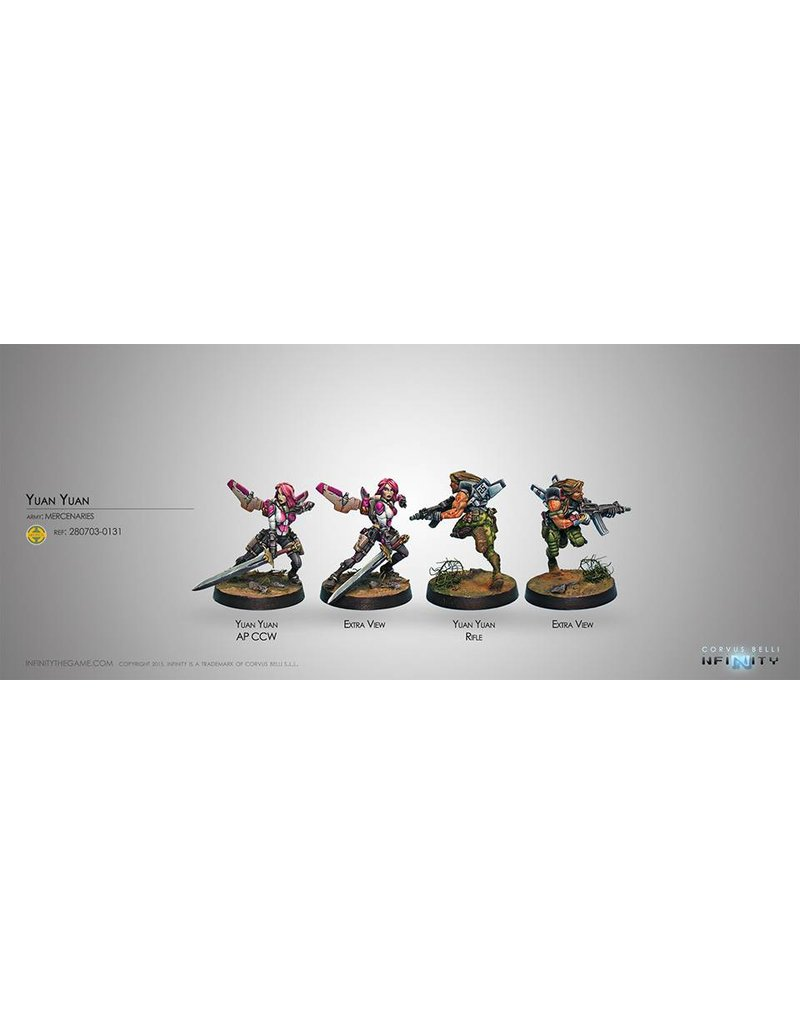 Corvus Belli Mercenaries Yuan Yuan (Rifle, Chain Rifle) Blister Pack