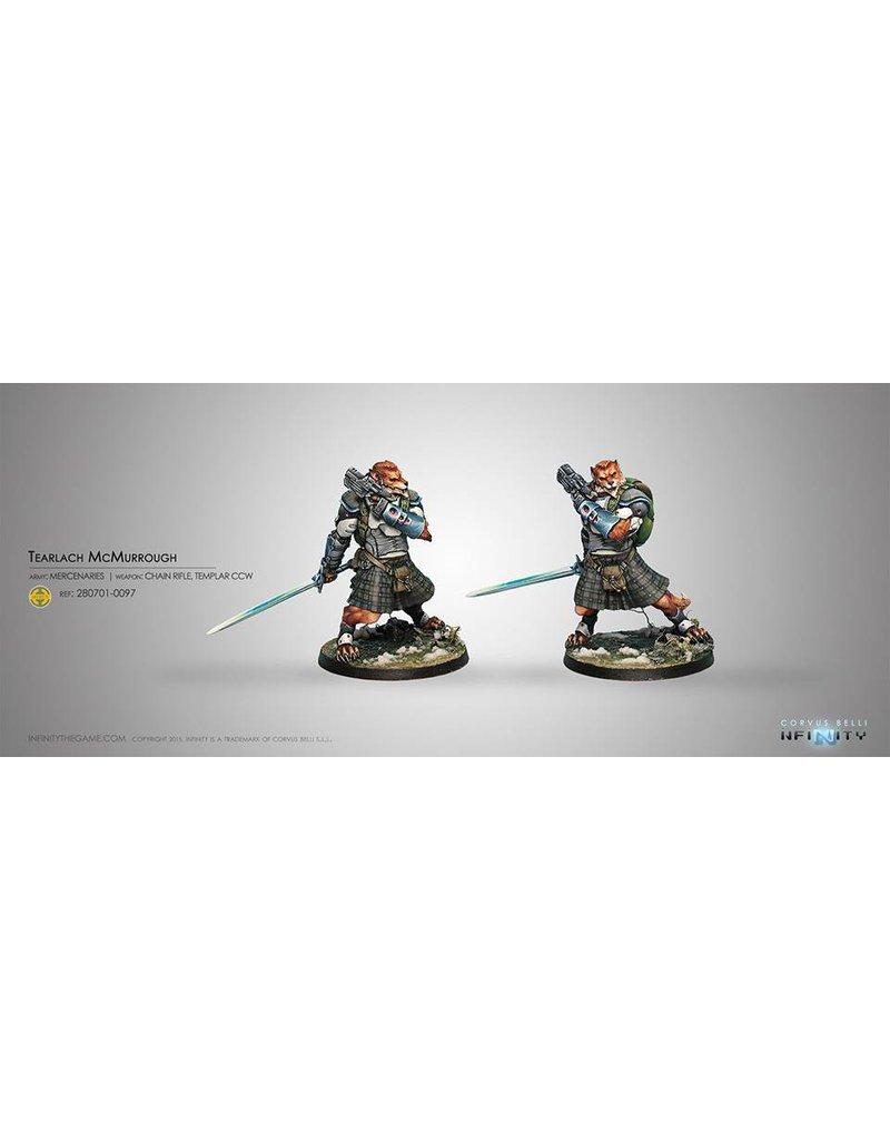 Corvus Belli Mercenaries Tearlach McMurrough (2 Chain Rifle, Templar CCW) Blister Pack