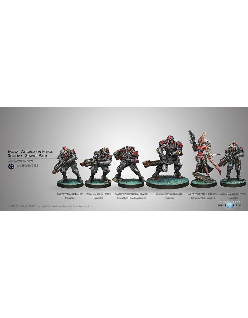 Corvus Belli Combined Army Morat Aggression Forces (Sectorial Starter Pack) Box Set