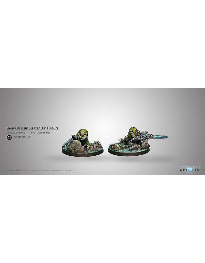 Corvus Belli Combined Army Shasvastii Light Support Unit Haiduk (Sniper) Blister Pack