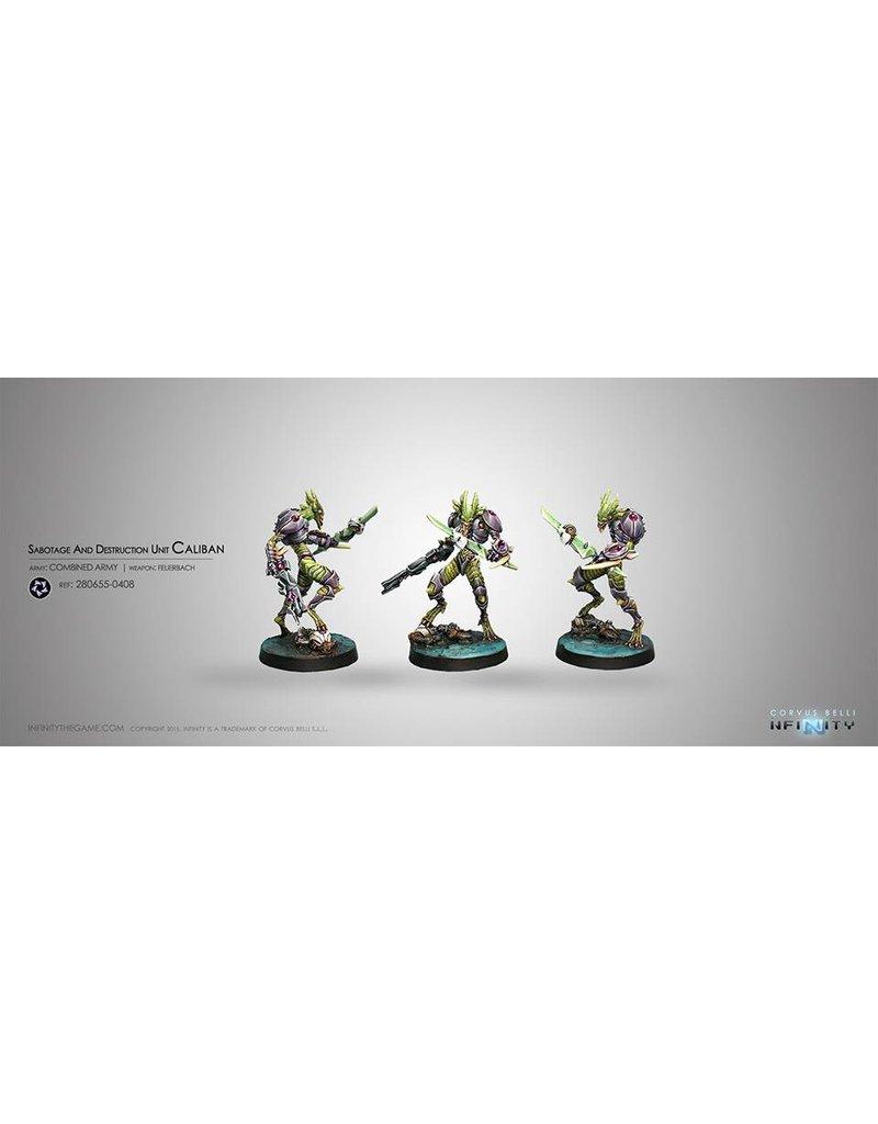 Corvus Belli Combined Army Sabotage and Destruction Unit Caliban (Feuerbach) Blister Pack