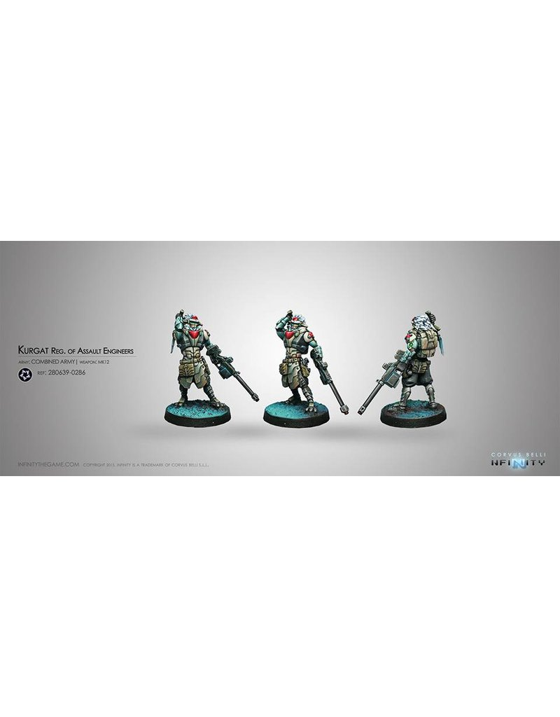 Corvus Belli Combined Army Kurgat Reg. of Assault Engineers (Mk12, D-Charges) Blister Pack