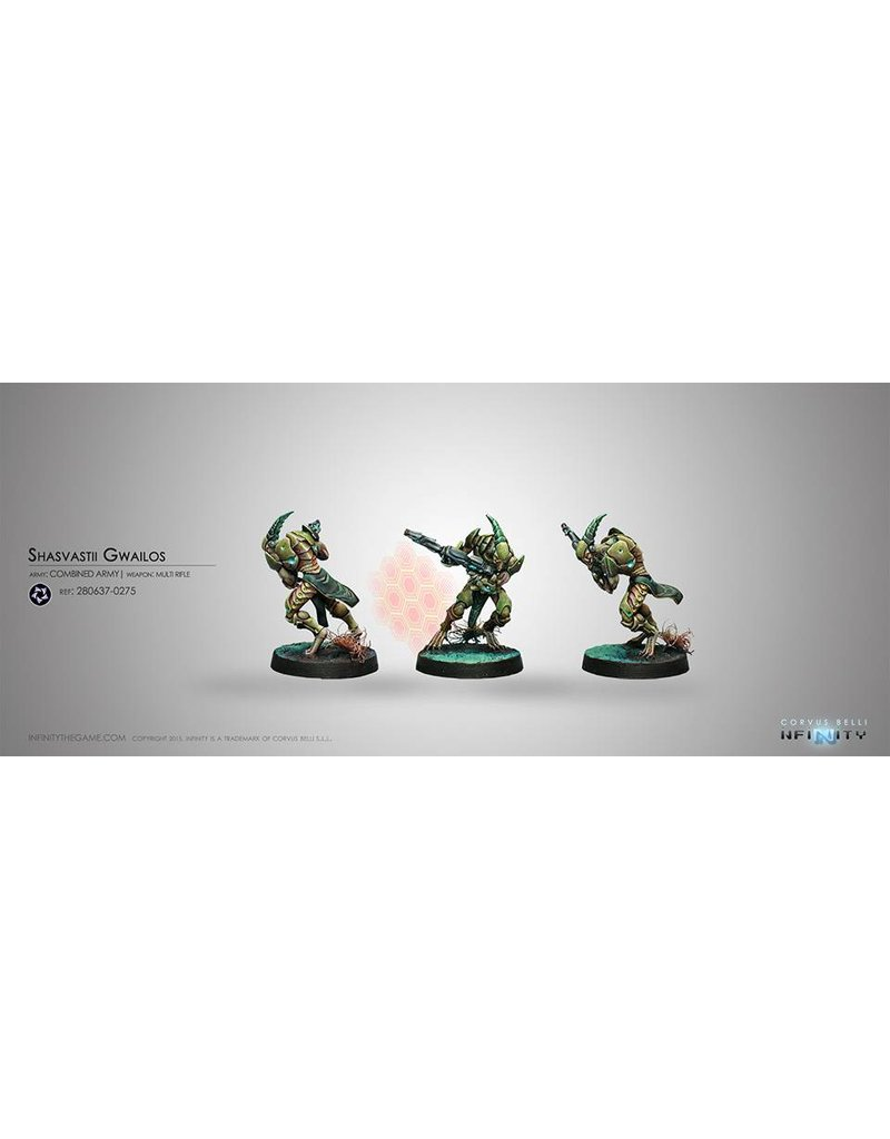 Corvus Belli Combined Army Shasvastii Gwailos (MULTI Rifle) Blister Pack