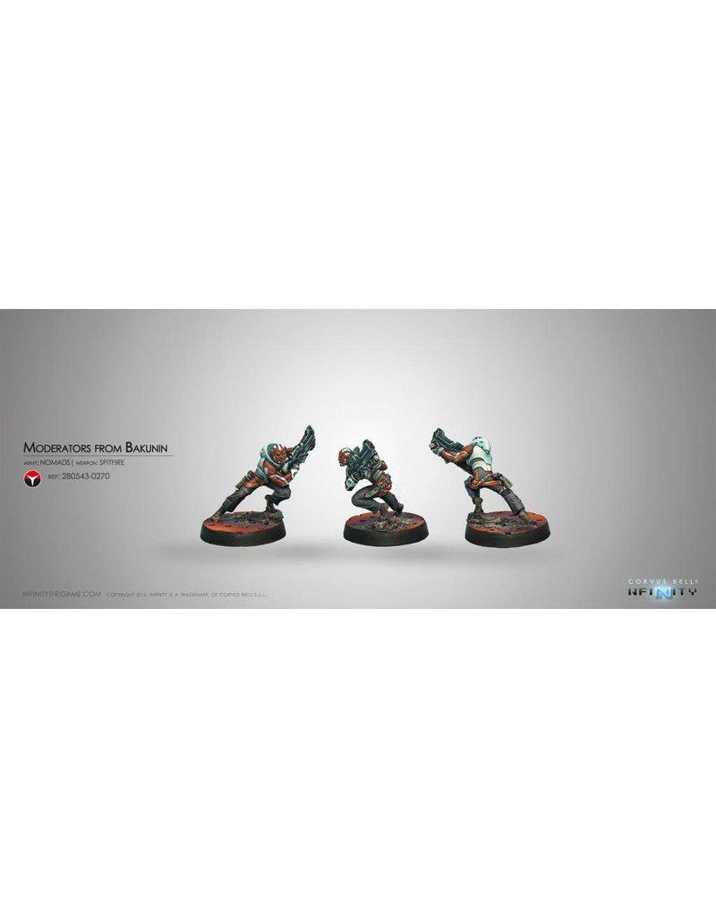 Corvus Belli Nomads Moderators from Bakunin (Spitfire) Blister Pack