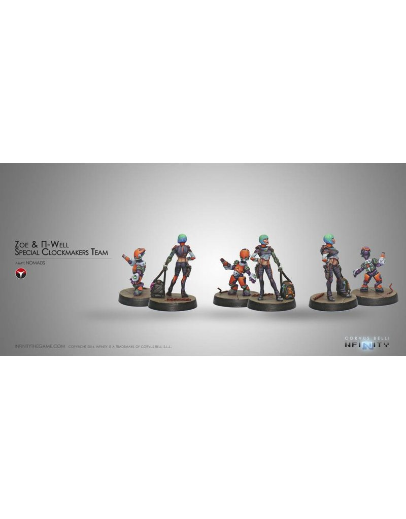 Corvus Belli Nomads Zoe & Pi-Well (Engineer & Remote) Blister Pack