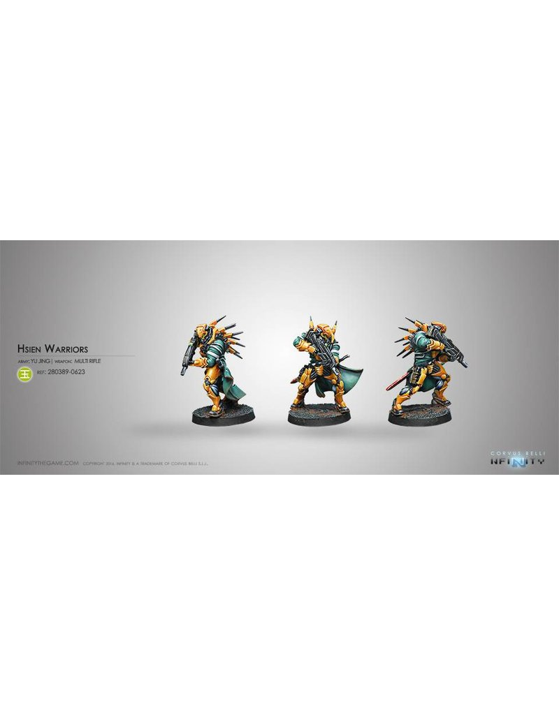 Corvus Belli Yu Jing Hsien Warriors  (MULTI Rifle) Blister Pack
