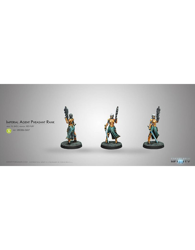 Corvus Belli Yu Jing Imperial Agent Pheasant Rank (Red Fury)  Blister Pack