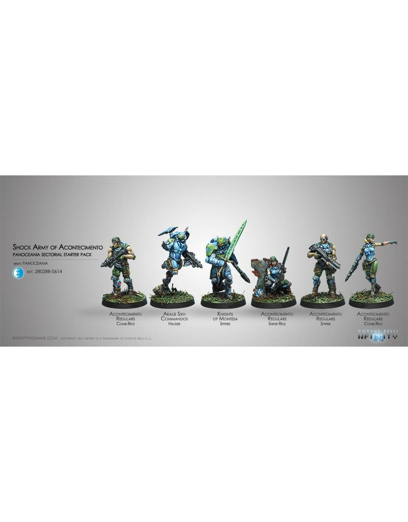 Corvus Belli Panoceania Acontecimento Shock Army ( Sectorial Starter Pack) Box Set