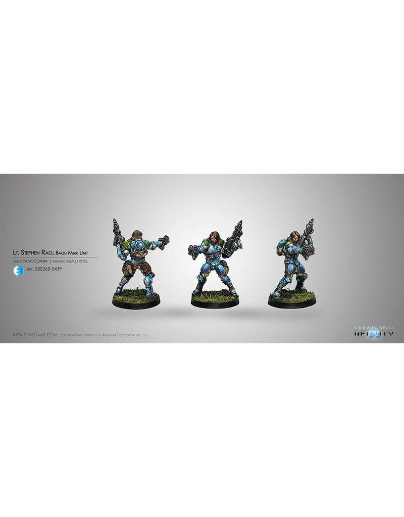 Corvus Belli Panoceania Lieutenant Stephen Rao, Bagh-Mari Unit (Combi Rifle) Blister Pack