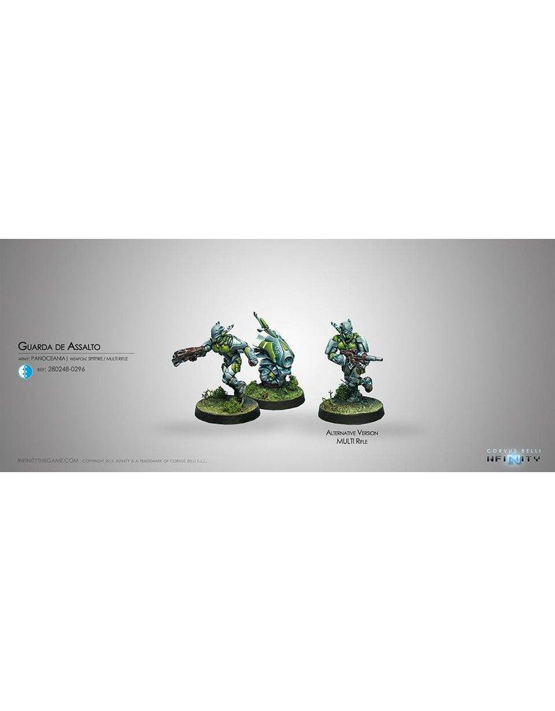 Corvus Belli Panoceania Guarda de Assalto (Spitfire/MULTI Rifle, Auxbot) Blister Pack