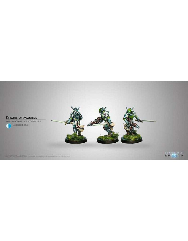 Corvus Belli Panoceania Knights of Montesa (Combi Rifle+Light GL) Blister Pack