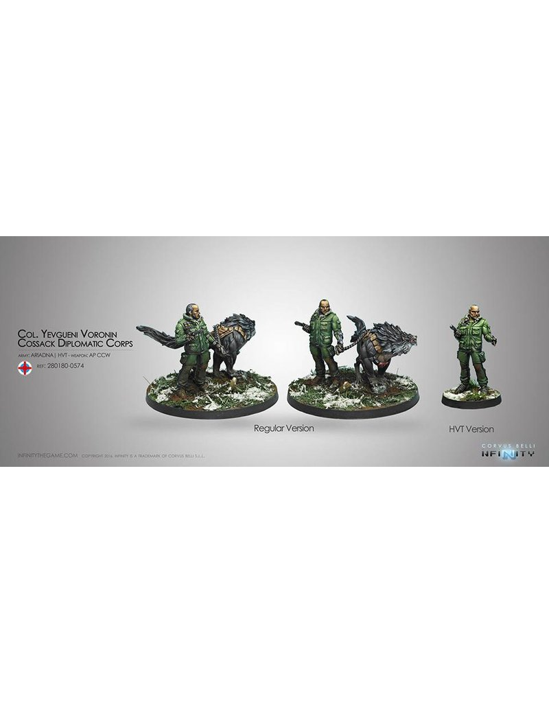 Corvus Belli Ariadna Col. Yevgueni Voronin, Cossack Diplomatic Corps (Rifle/AP CCW) Blister Pack