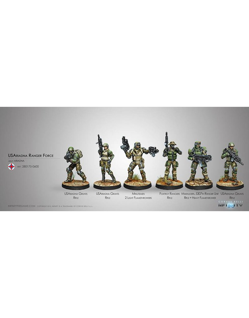 Corvus Belli US Ariadna Ranger Force (Sectorial Starter Pack) Box Set