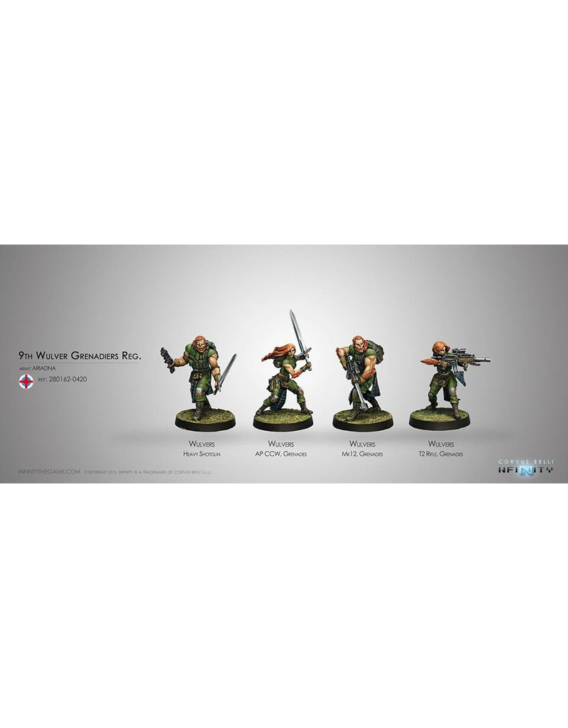 Corvus Belli Ariadna 9th Wulver Grenadiers Regiment Box Set