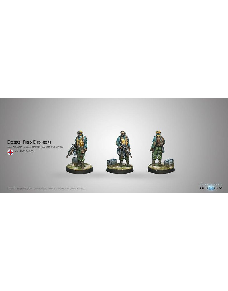 Corvus Belli Ariadna Dozers, Field Engineers (Traktor Mul Control Device) Blister Pack