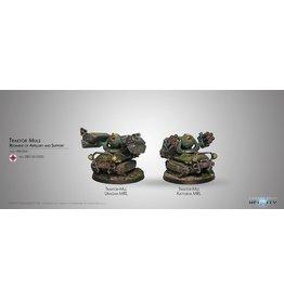 Corvus Belli Traktor Muls. Regiment of Artillery and Support