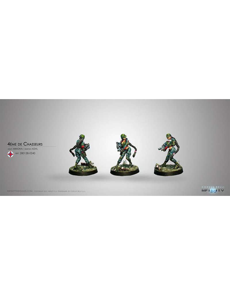 Corvus Belli Ariadna Chasseurs (Adhesive-Launcher) Blister Pack