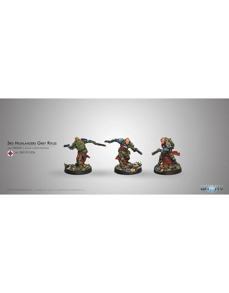 Corvus Belli Ariadna 3rd Highlander Rifles (Rifle, 2 Light Shotguns) Blister Pack