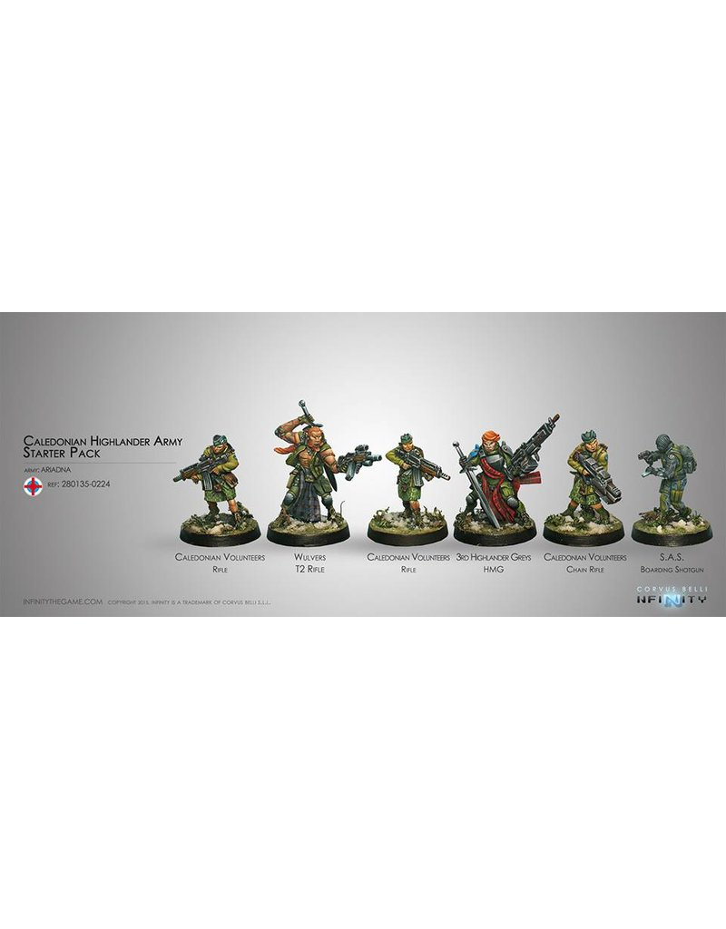 Corvus Belli Ariadna Caledonian Highlander Army (Sectorial Starter Pack) Box Set