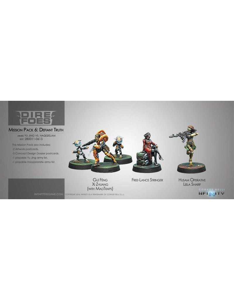 Corvus Belli Dire Foes Mission Pack 6. Defiant Truth (Yu Jing vs Haqqislam)