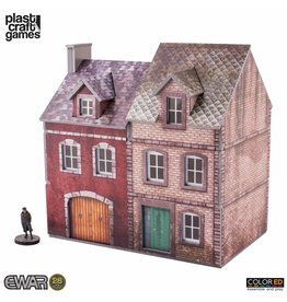 Plast-Craft Semi-detached Building (Pre-Painted Playable Brick Building)