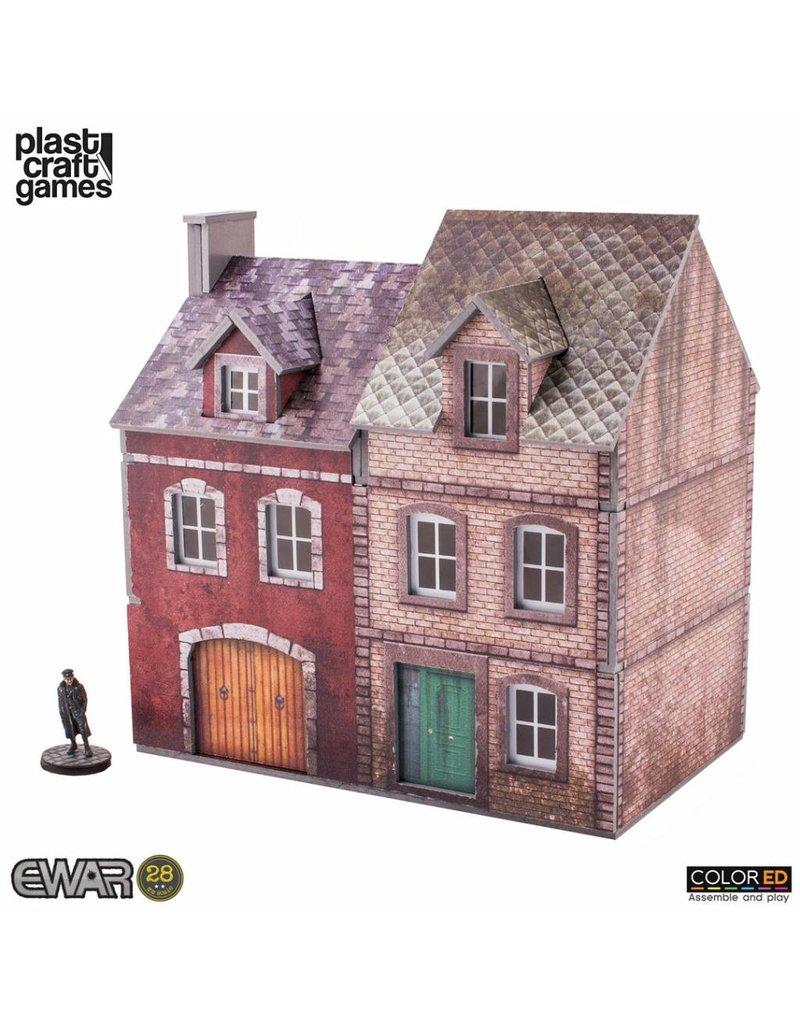 Plastcraft Semi-detached Building (Pre-Painted Playable Brick Building)