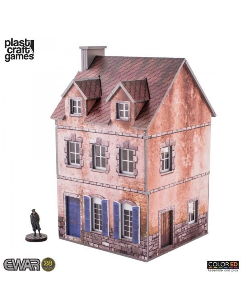 Plast-Craft Two-storey Building (Pre-Painted Playable Brick Building)
